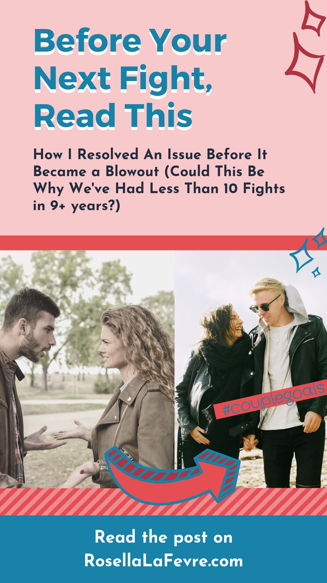 Stop Fighting With Your Partner! The author, Rosella LaFevre, and her boyfriend have had less than 10 fights in their 9+ years together. Could the way she avoided a fight over dirty dishes be how you can avoid fighting with your boyfriend?